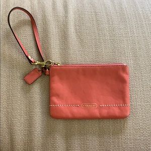 Coach Wristlet w/ Small thin strap